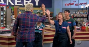 Cindy High 5 with Guy Fieri