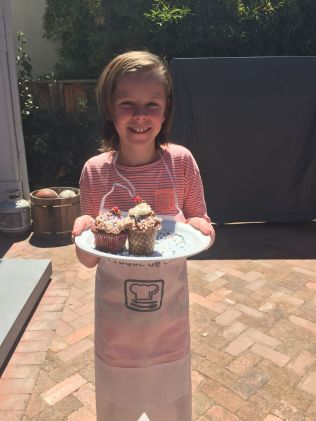Amelia with Contest Cupcakes